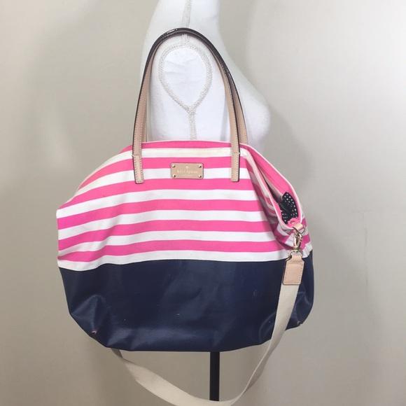 54fafe66a5582 kate spade Handbags - Kate spade large striped tote bag purse RARE beach